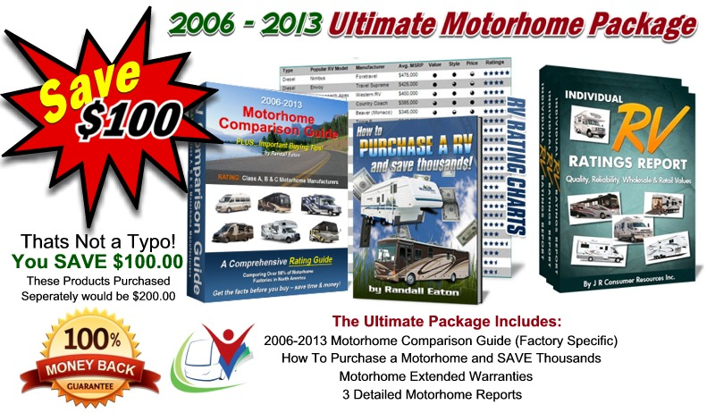 Ultimate Motorhome Package  2006-2013